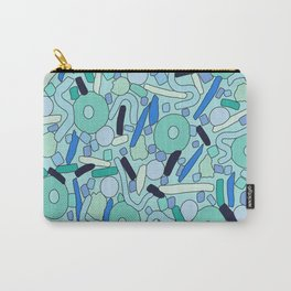 CIRCLES IN MOTION - GREEN/ BLUE Carry-All Pouch