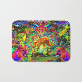 The Laser Focus of Couger Conciousness Bath Mat