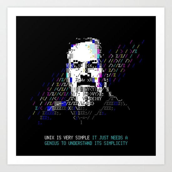 Dennis Ritchie - Tech Heroes series Art Print