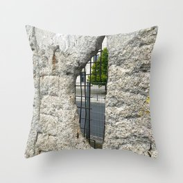 The side of optimism Throw Pillow