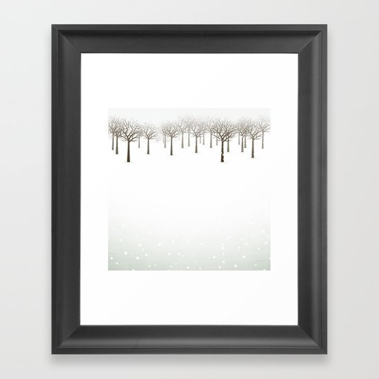 Winter Forest by Friztin Framed Art Print