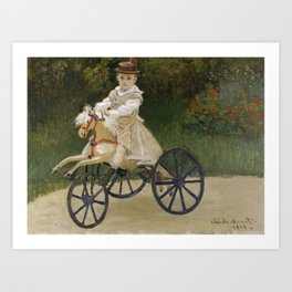 Monet, Jean Monet on his Hobby Horse, 1872 Art Print
