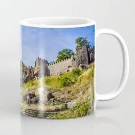 Stone Steps Leading up to the Temple Area of Golconda Fort in Hyderabad, India Coffee Mug