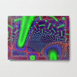 Disco Tech Psychedelic Metal Print