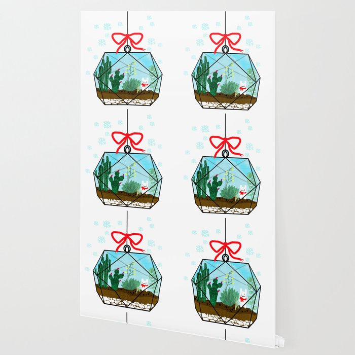 Cactus Terrarium Christmas Gift Wallpaper By Shashirahandmaker