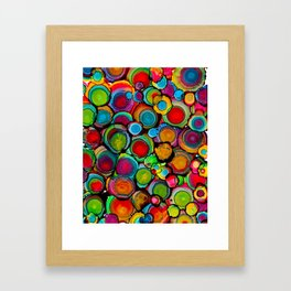 Conscious Overlap (Alcohol Inks Series 03) Framed Art Print