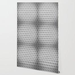 Grey Hearts Wallpaper