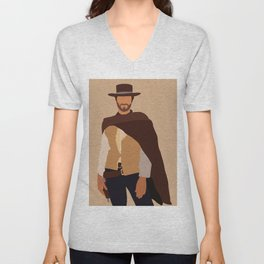 The Good the Bad and the Ugly 60s film Unisex V-Neck