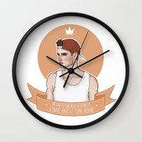 liam payne Wall Clocks featuring Liam Payne by vulcains