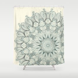 Flowers in the Sea - Mandala Shower Curtain