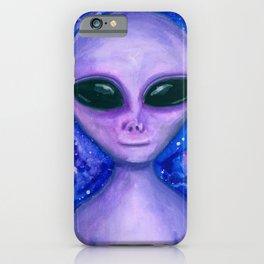 Alien creature, galaxy iPhone Case