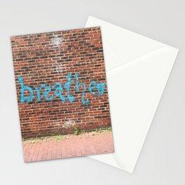 breathe on brick Stationery Cards