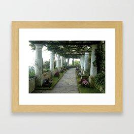 Garden Walk Framed Art Print