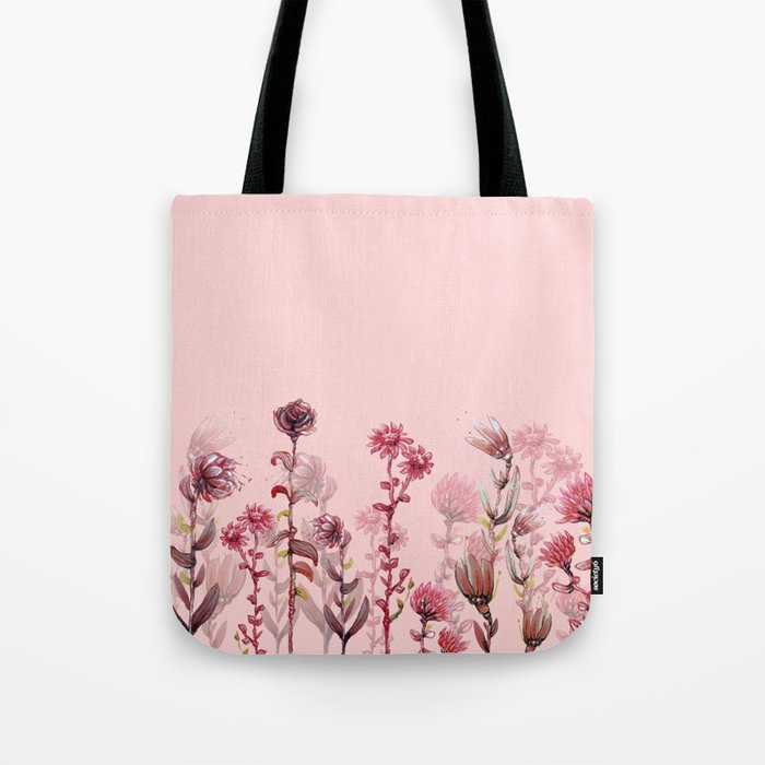 For Her ! Pink Flowers Tote Bag