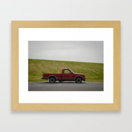 The Broken Red Truck Framed Art Print