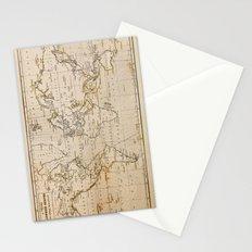 World Map 1844 Stationery Cards