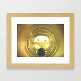 Tea jar smile. Framed Art Print