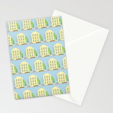 Yellow houses Stationery Cards