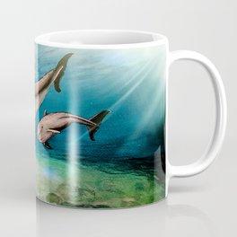Dolphins, watercolor Coffee Mug
