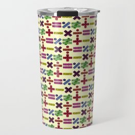 Seamless Colorful Abstract Mathematical Symbols Pattern IV Travel Mug