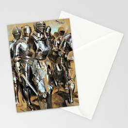 Adolph Menzel - Armor Chamber Fantasy - Digital Remastered Edition Stationery Cards