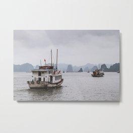 Floating around in Hanoi Bay, Vietnam - Travel photography Metal Print