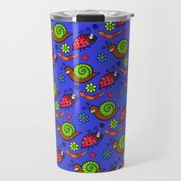 Cartoon Garden Bugs Travel Mug