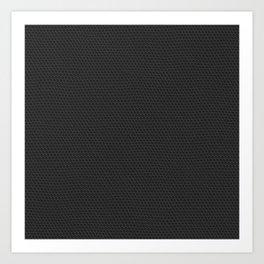 Matte Black Pebbled Hexagonal Reptile Snakeskin Pattern Art Print