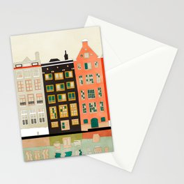 Travel europe city shape abstract art Stationery Cards