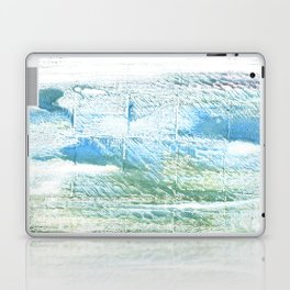 Mint cream abstract watercolor Laptop & iPad Skin