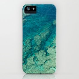 Paradise from above - Beautiful coral reef with clear blue and turquoise water, tropical Japan iPhone Case