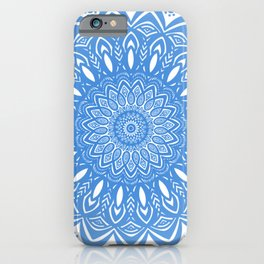 Light Blue Cobalt Mandala Simple Minimal Minimalistic iPhone Case