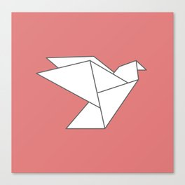 LOVE - Origami Bird Canvas Print