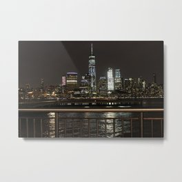 NYC Skyline from the Jersey Side Metal Print