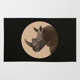 Round Rhino Rug
