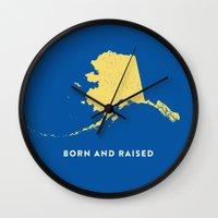 alaska Wall Clocks featuring Alaska by Hunter Ellenbarger