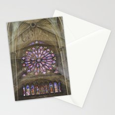 notre dame de reims Stationery Cards