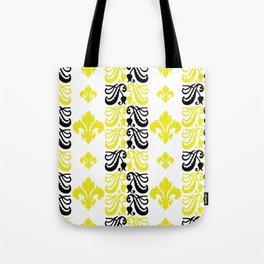 Fluer de Lis Custom Yellow Tote Bag