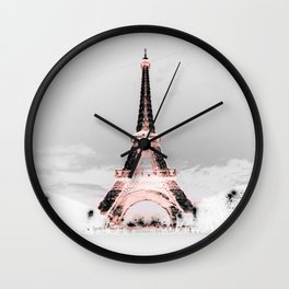 pariS Black & White + Pink Wall Clock