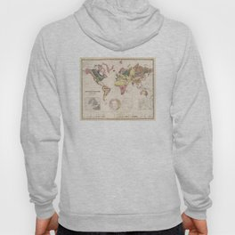 Vintage Geological Map of The World (1856) Hoody