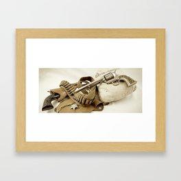 Guns Of The Old West - Colt .45, #2, Sepia Framed Art Print