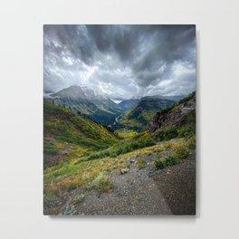 Storm on the Mountain Metal Print