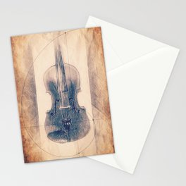 Stradivarius Spiral Violin Stationery Cards