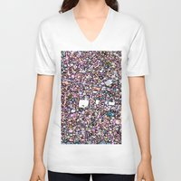maps V-neck T-shirts featuring Funky Maps, SAN FRANCISCO by MehrFarbeimLeben