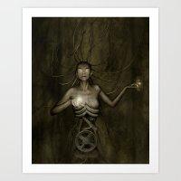 Electric Medusa Art Print