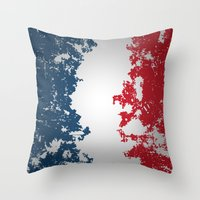 france Throw Pillows featuring France by Flat Design