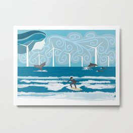Harmony with the Sea Metal Print