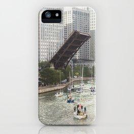 Chicago River, Bridges Up iPhone Case