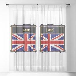 Union Jack Guitar Amplifier Sheer Curtain