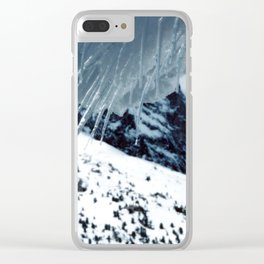 NATURE'S WONDER #1 - Icicles up in the mountains #art #society6 Clear iPhone Case